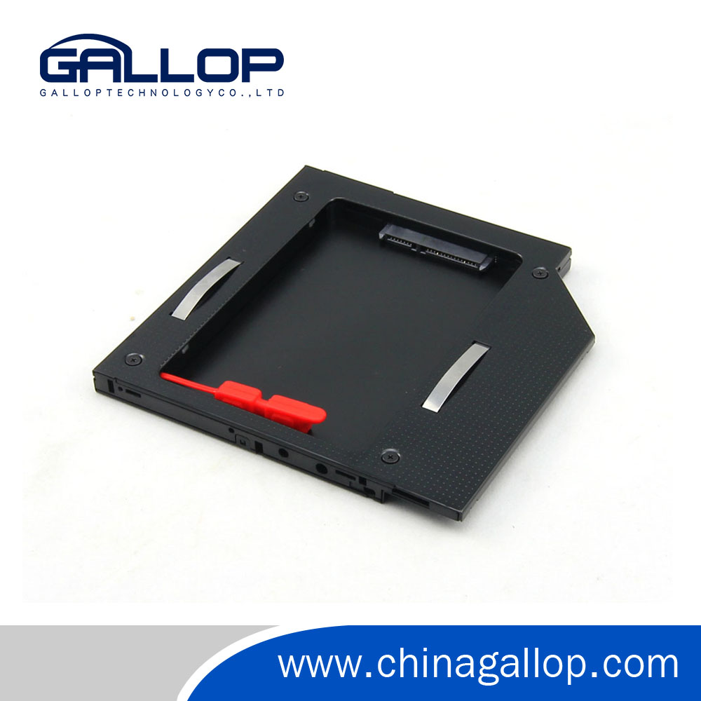 "Second HDD Caddy 2nd SATA 3.0 Hard Disk Drive 2.5""HDD SSDAluminum Enclosure Case for9.5mm laptop CD DVD ROM"