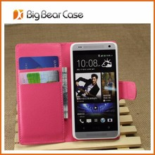 Factory flip leather mobile phone case for htc one mini M4