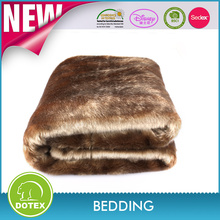 2016 New design large 150x200cm high quality luxurious soft fake-fur blanket