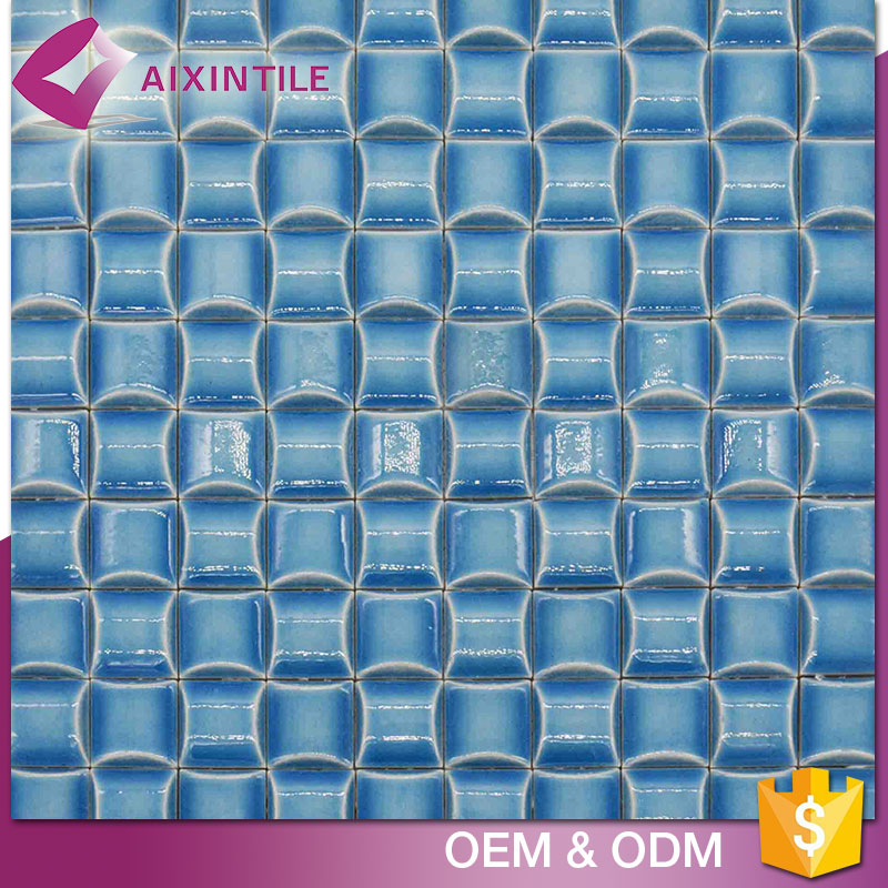 Ceramic Material Blue Color Latest Outside Design Wall Tiles