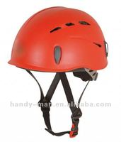 HT-0802-RED Light-weight Red Safe Plastic PP Outdoor Sport Rock Climbing Protective Helmet