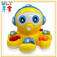 Interesting electronic toys gleamy octopus toys for kids musical electronic toy
