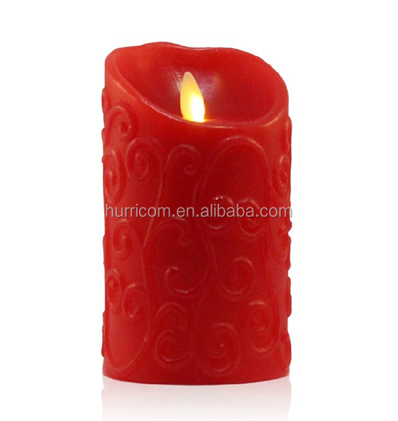 Best price and high quality soy wax cameo scented LED light candle 500 hours battery