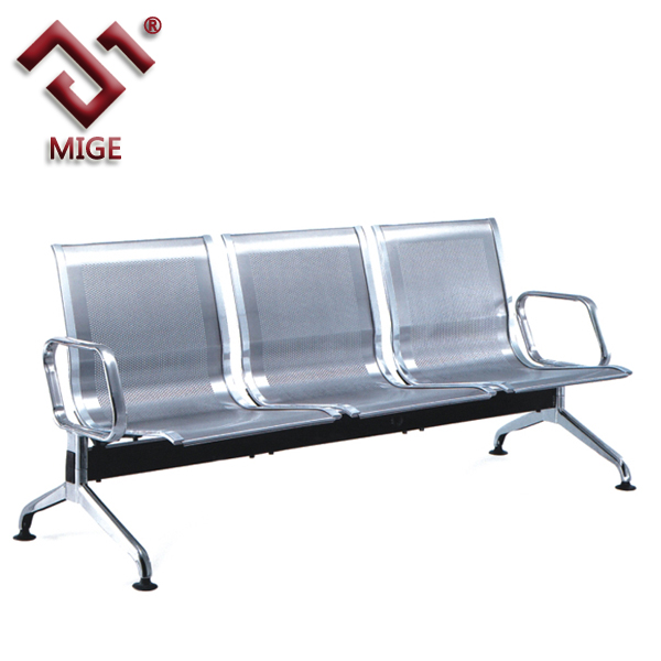 3 seater stainless steel hospital waiting chair