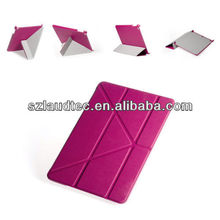 original brand hot pink origami case for iPad Air / for ipad 5 leather case