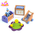 New hottest mini wooden dollhouse furniture set for pretend play W06B087