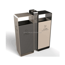 Stainless steel outdoor litter bin for street shopping mall hotel plaza
