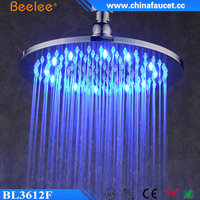 "Beelee Brass 12"" Bathroom LED Shower Water Saving High Pressure Shower Head"