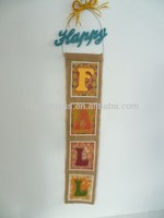 Hot Selling 2014 Newest 37-5/8''H Fall Letter Sign Burlap Wall Hanging Ornament