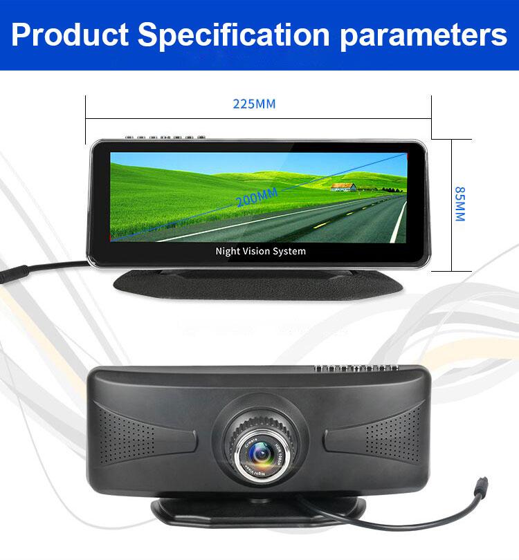 Vision nocturne imperméable à l'eau avant de voiture système de sécurité full hd 1080 p anti brouillard cctv caméra de voiture