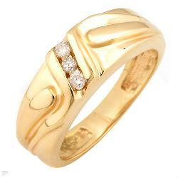 Fabulous Ring With Genuine Diamonds Crafted in Solid 14K