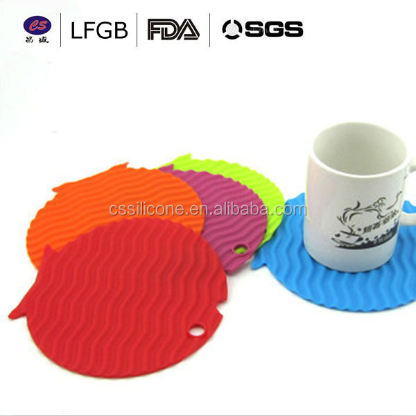 Heat Resistant Hot Pads Perfect Modern Silicone cup Mat/silicone table mat/Silicone cup coaster