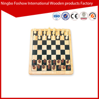 high quality wooden magnetic chess game set with chess pieces