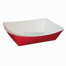 Disposable snack serving tray paper food tray for cake