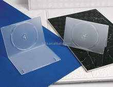 Frosty Clear Single Plastic 7mm Slim DVD Case
