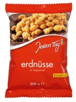 Jeden Tag Coated peanuts Paprika 200g bag