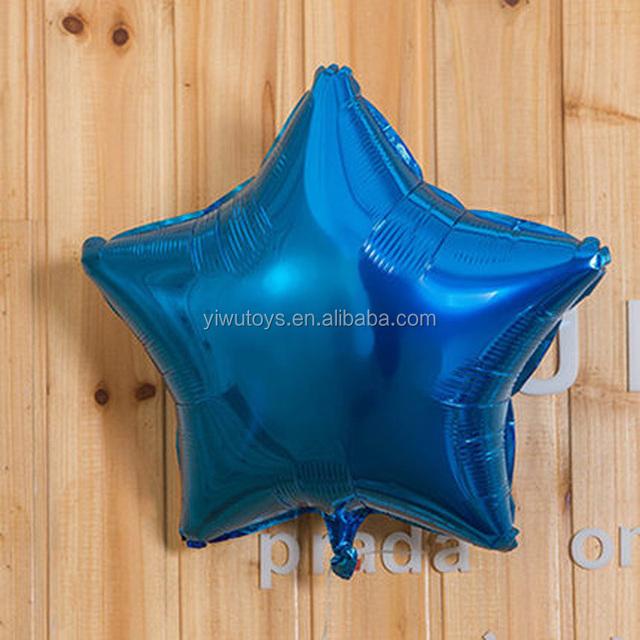 EN71 globos inkjet printable foil blue inflatable star ballon