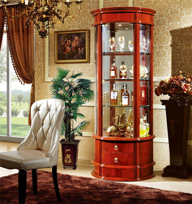 Fashionable Glass Showcase Furniture Display Cabinet For Living Room Design
