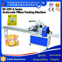 Guangdong Factory High quality machinery Bottom Film Horizontal Packing Machine , wet wipes /wet towel flow packing machine