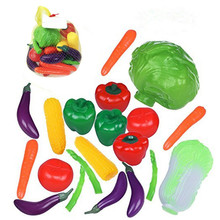 China Manufactuing Life Sized Bag of Colorful Vegetables Play Food Playset for Kids