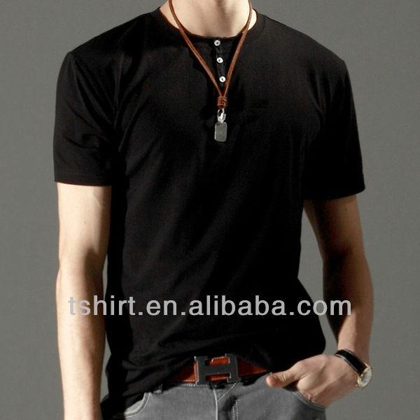 Mens Blank T Shirt Button Up - Buy T Shirt Button Up,Blank T Shirt ...