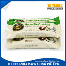 protein bar chocolate engergy bar packaging / plastic roll film material for protein bar wrapper packaging