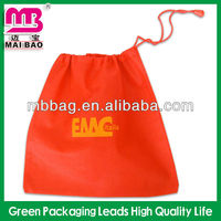 red color 75gsm non woven jewelry bag pouch