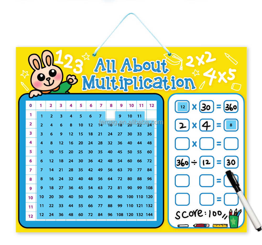 E1015 wholesales top quality for student and teacher at school magnetic learning multiplication resources