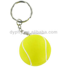 good quality custom printed tennis ball keychain
