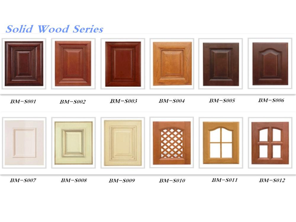 Bomei Manufacturer Customized Simple European design Solid Wood Kitchen Cabinet Made in China