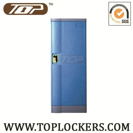 Factory direct sale plastic locker with clothes rod and shelf