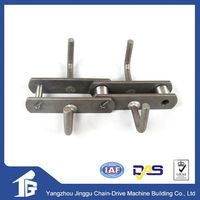 High efficiency hard wearing double pitch conveyor chain