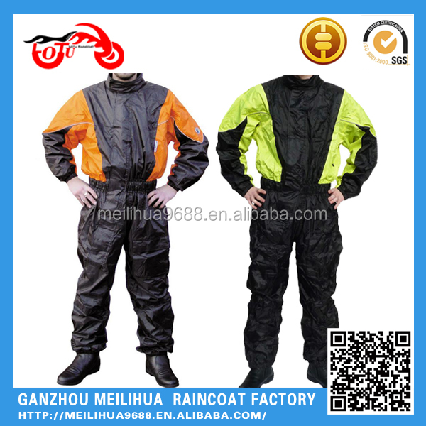 Custom Men's Cheap Waterproof Motorcycle Overall Rain suit