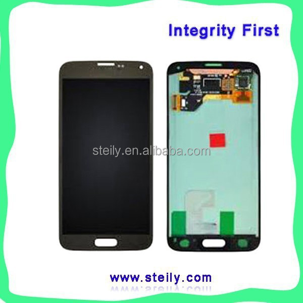 High Quality For Samsung Refurbished LCD, For Samsung Galaxy S5 LCD Screen Digitizer Assembly Black/White/Blue