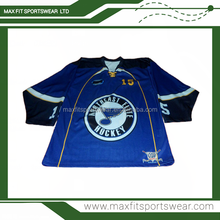 High quality teams sublimated custom ice hockey jersey