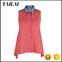 Made in China New style Formal Beautiful chiffon top blouse