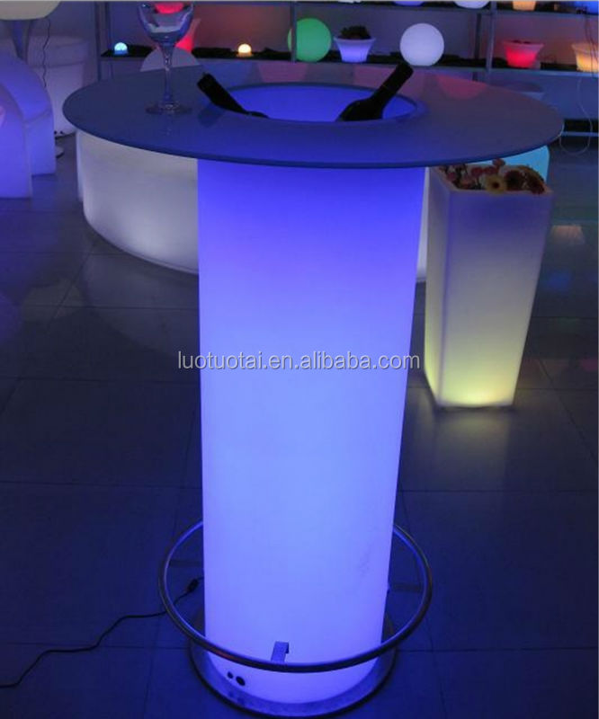 Hot Sell Led Rechargeable Tall <strong>Bar</strong> Table/LED Remote Outdoor Lawn <strong>Bar</strong> Counter
