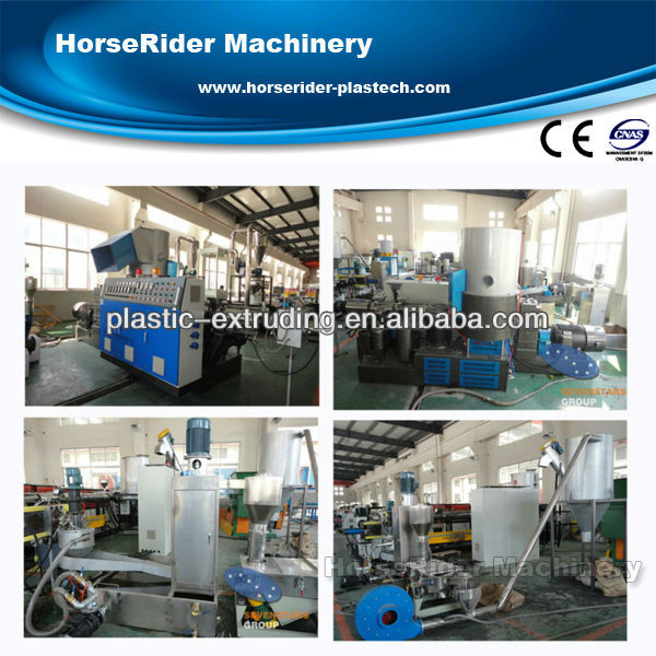 Waste plastic recycling/film pelletizing line