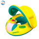 PVC water floating pool inflatable canopy baby seat, swimming pool water seat, baby swim ring float seat
