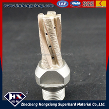 Sintered diamond finger router bit for glass milling cutter