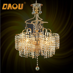 Made in China CE Approved restaurant luxury led crystal chandelier
