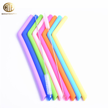 kids reusable custom Bending silicone rubber drinking straw