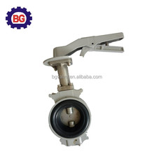 CE/ISO Marine Wafer Type Worm Gear Operated Metal Seat Butterfly Valve