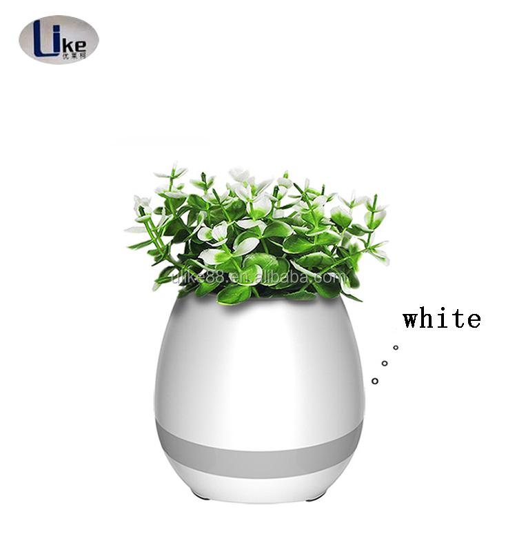 2017 fashion intelligent electronic bluetooth stereo flower pot
