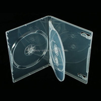 14mm super clear 3 discs dvd case /14mm dvd box for 3 discs