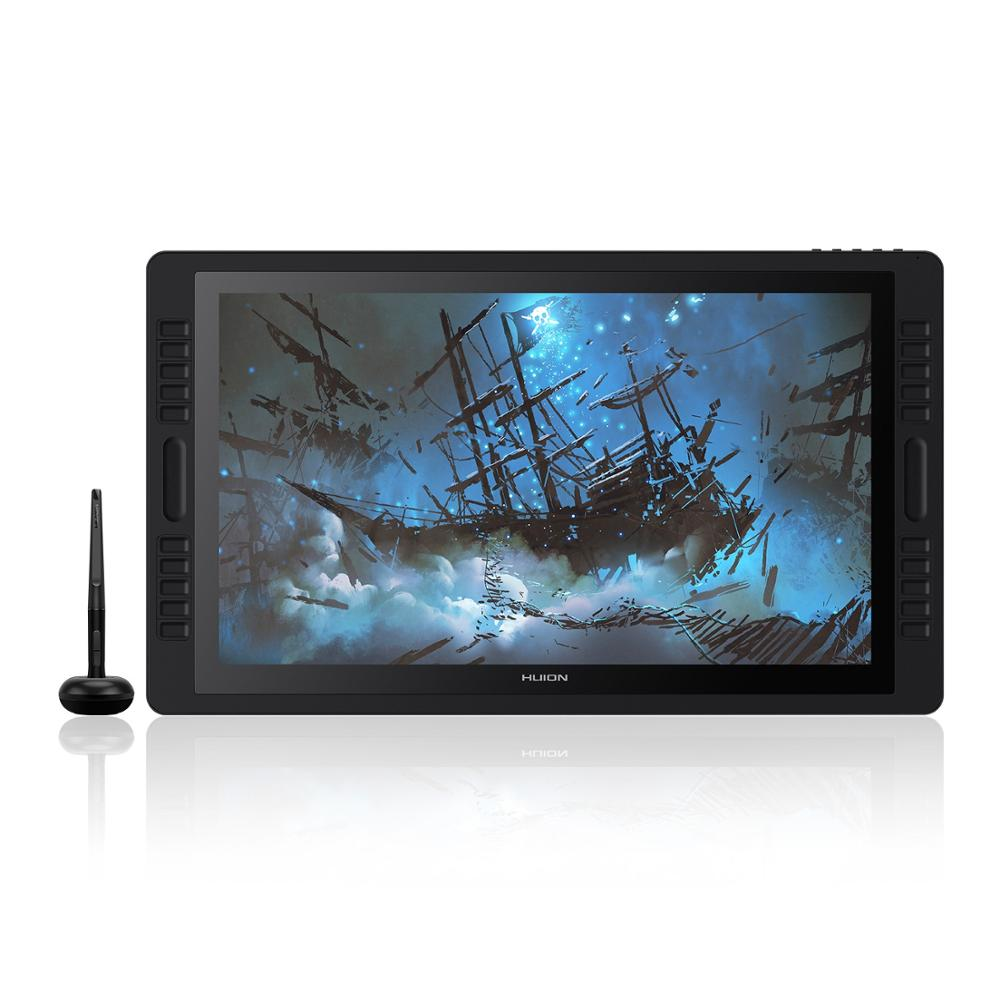 21.5 inch huion graphic tablet 8192 levels kamvas animation design digital lcd display graphic tablet draw touch pen monitor