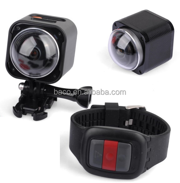360 degree camera 4k action camera wifi with 2.4G RF Remote Control sports action camera 360