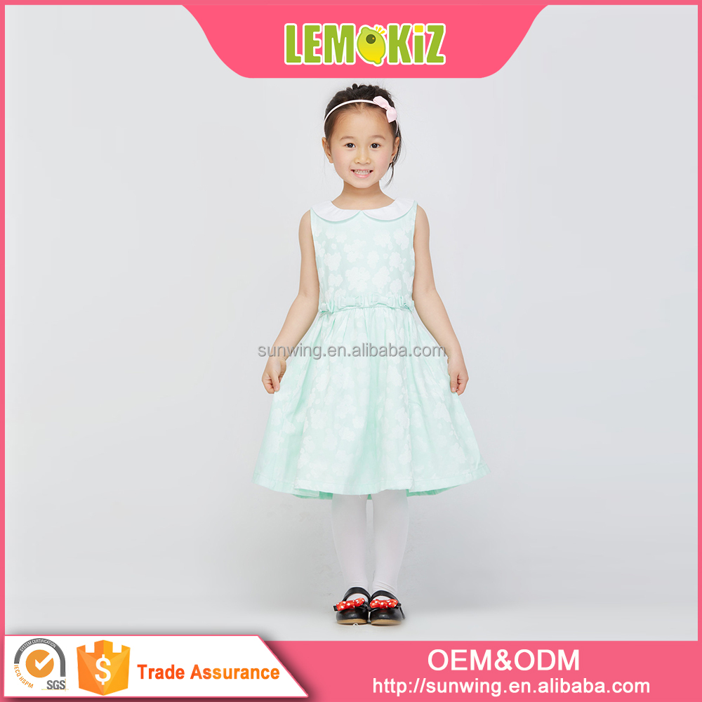 Lemokiz Collar dresses with sleeveless Fashion Dresses for girls