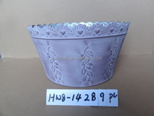 Hot Selling Wide Mouth Vivid Design Zinc Flower Pot With Flower Brim