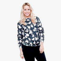 Fashion Spring & Autumn women marilyn 3d sweatshirt long sleeves O-neck print T shirt